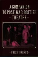 A companion to post-war British theatre