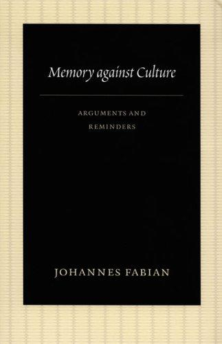 Download Memory against Culture