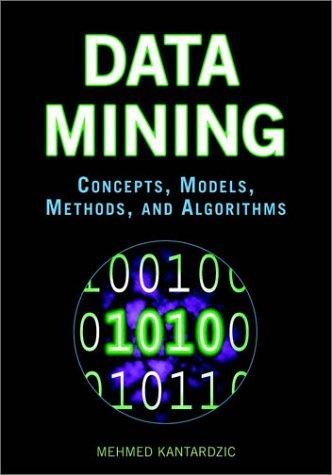 Data Mining: Concepts, Models, Methods, and Algorithms, Kantardzic, Mehmed