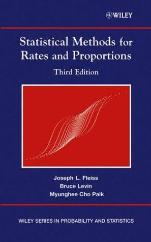 Statistical methods for rates and proportions.