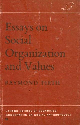 Download Essays on social organization and values