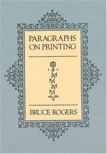 Paragraphs on printing