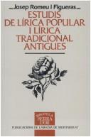 Estudis de lírica popular i lírica tradicional antigues