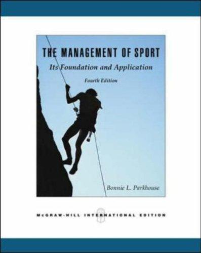 Management of Sport