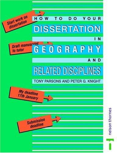 Download How to Do Your Dissertation in Geography and Related Disciplines
