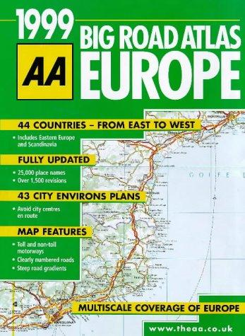 Big Road Atlas Europe (AA Atlases)