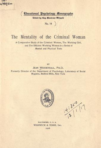 Download The mentality of the criminal woman