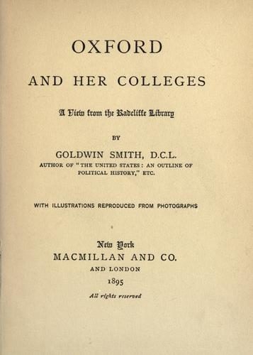 Download Oxford and her colleges