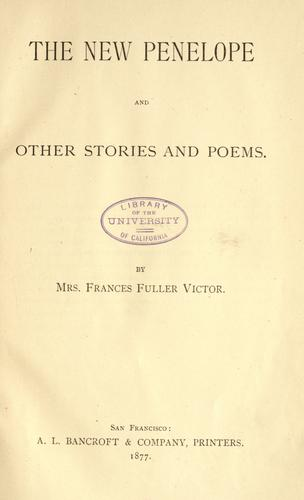 The new Penelope, and other stories and poems