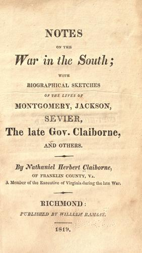 Download Notes on the war in the South