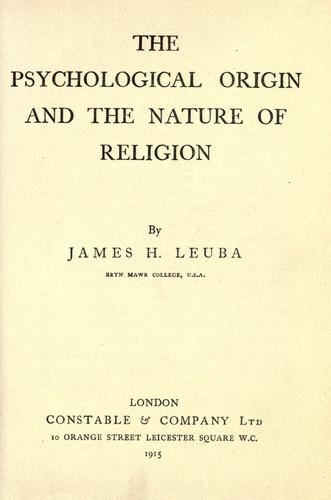 Download The psychological origin and the nature of religion