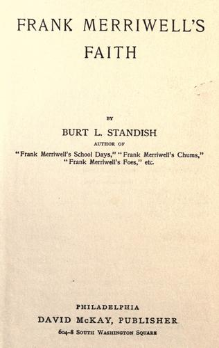 Frank Merriwell's Faith by Burt L. Standish