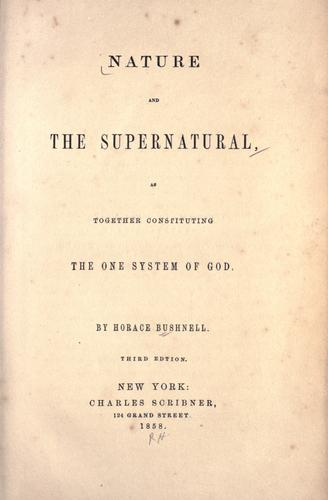 Download Nature and the supernatural, as together constituting the one system of God.