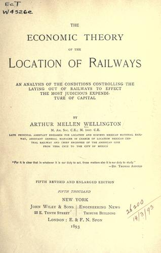Download The economic theory of the location of railways