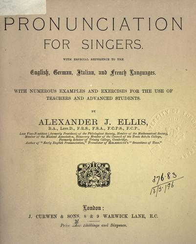 Download Pronunciation for singers