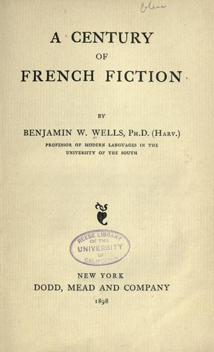 Download A century of French fiction
