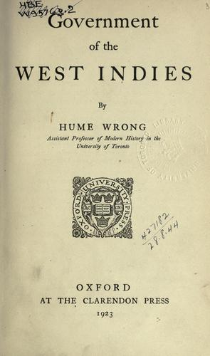 Download Government of the West Indies.