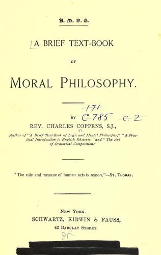A brief text-book of moral philosophy.