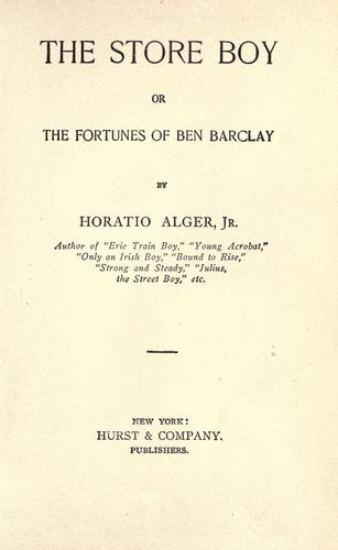 Download The store boy; or, The fortunes of Ben Barclay.