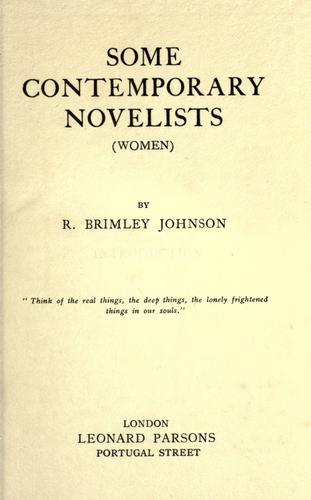Some contemporary novelists (women)
