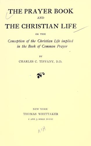 The prayer book and the Christian life