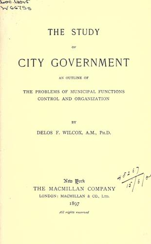 Download Study of city government