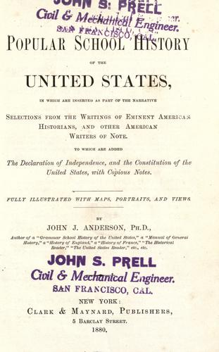 A popular school history of the United States