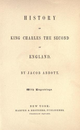 History of King Charles the Second of England.