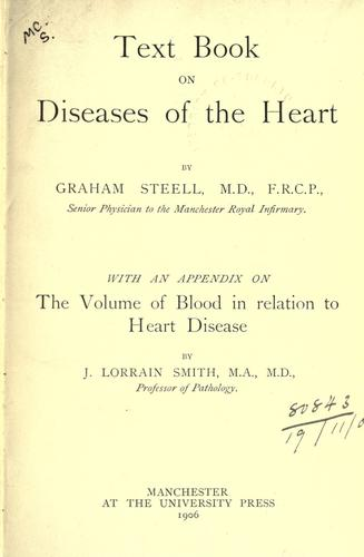 Text-book on diseases of the heart