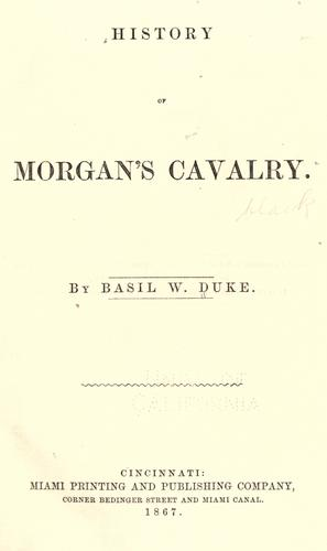 Download History of Morgan's Cavalry