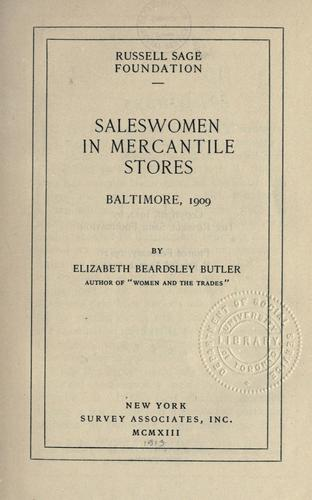 Download Saleswomen in mercantile stores, Baltimore, 1909