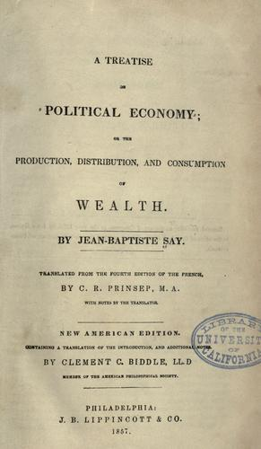 Download A treatise on political economy