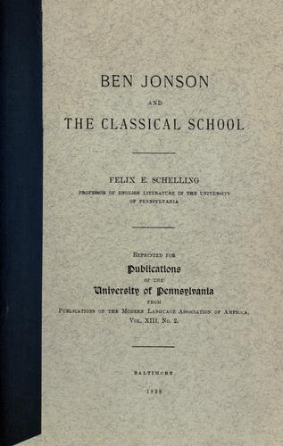 Download Ben Jonson and the classical school