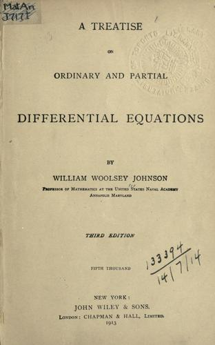 Download A treatise on ordinary and partial differential equations.