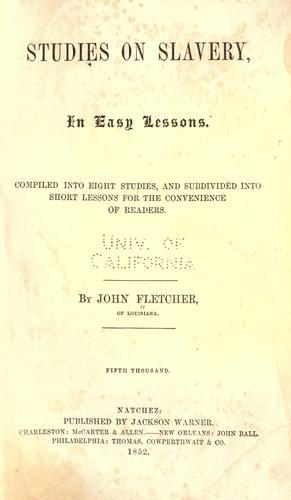 Studies on slavery