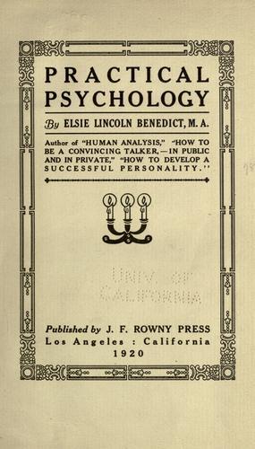 Download Practical psychology