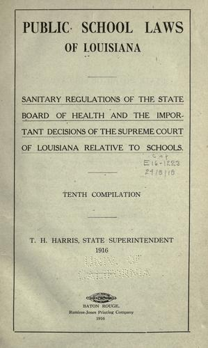 Download Public school laws of Louisiana.