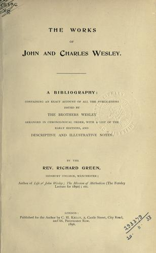 Download Works of John And Charles Wesley