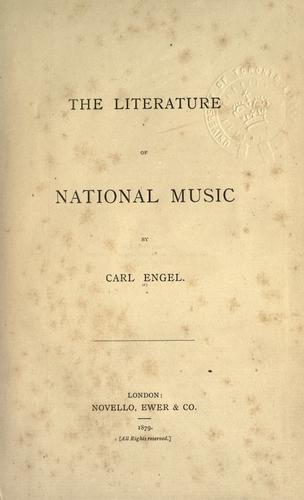 The literature of national music.
