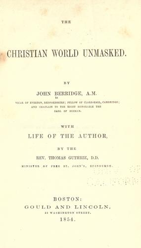 Download Christian world unmasked