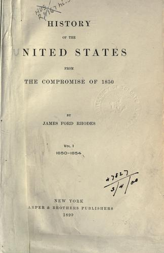 Download History of the United States from the compromise of 1850