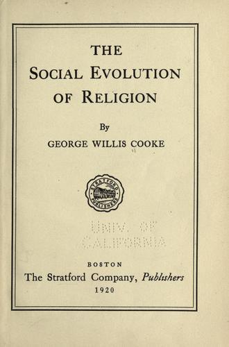 Download The social evolution of religion.