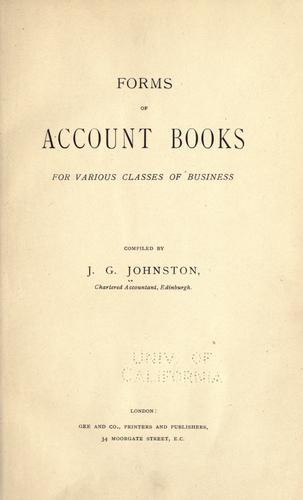 Forms of account books for various classes of business. (Open Library)