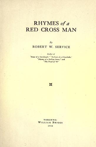 Download Rhymes of a Red Cross man.