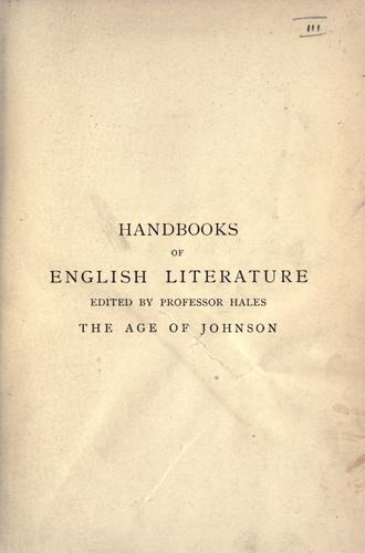 Download The age of Johnson (1748-1798).