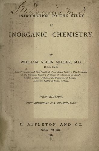 Introduction to the study of inorganic chemistry.
