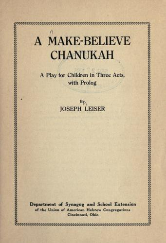A make-believe Chanukah