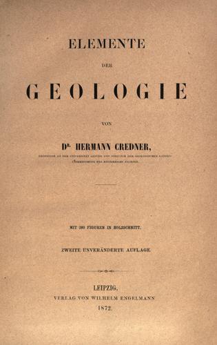 Elemente der Geologie