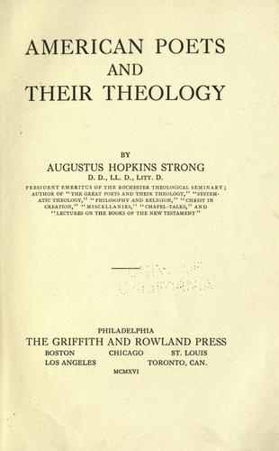 Download American poets and their theology