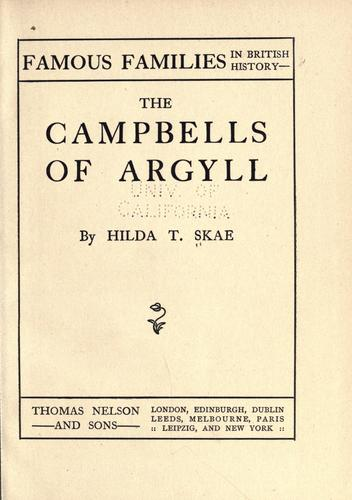 Download The Campbells of Argyll